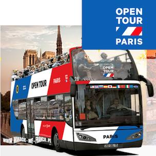 1 DNIOWY BILET NA ZWIEDZANIE PARYŻA AUTOBUSEM L'OPEN TOUR - ULGOWY