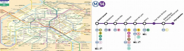 plan paryskiego metra